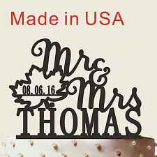 Made in USA, Mr and Mrs Cake Topper, Personalized Wedding Gift,CT030