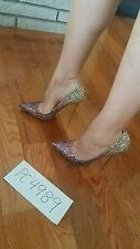 NWT Jimmy Choo ANOUK glitter degrade heels pumps size 38  US 7.5 8 receipt