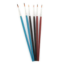 6pcs Artist Pointed Tip Paint Brush Set for Oil Painting