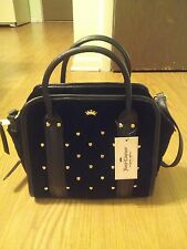 New Juicy Couture Women Bag Purse Satchel Black Velour Medium