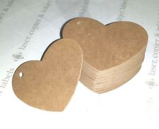 Pack of Gift Tags Wedding Heart Label Brown Blank Luggage Hang Kraft
