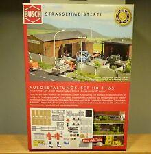 Busch HO 1165 Kit d'équipement - Voirie NEUF ET DANS L'EMBALLAGE D'ORIGINE