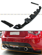 For 2013-16 Scion FRS FT 86 Rear Bumper Lower Diffuser+ 2 Pc Add-on Side Aprons