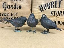 S/3 Vintage Wild Birds Outdoor Garden Statue Ornaments Resin Sculptures Gift