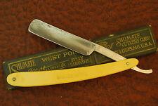 VINTAGE 1884-1928 STRAIGHT RAZOR KNIFE SHUMATE CUTLERY CO ST LOUIS DE LUXE (UK85