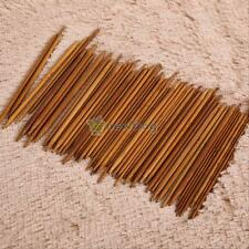 11 Sizes Carbonized Bamboo Double Pointed Knitting Needles Smooth Crochet 55 Pcs