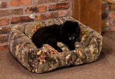 Woods Camo Pet Dog Bed 22x18 Tan Soft Comfort Home RV Camper Camoflauge Mossy