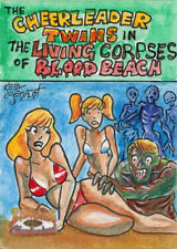 5finity Zombies vs Cheerleaders 2013 Sketch Card by Kelly Everaert