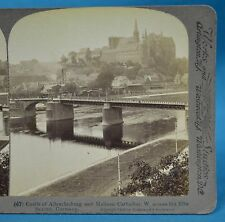 German Stereoview Albrechtsburg Castle & Meissen Cathedral Germany Underwood