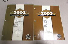 2003 Chevrolet Chevy Pontiac Grand Am Oldsmibile Alero Service Manual Set