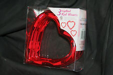 STRAND OF 3 VALENTINE WEDDING DECORATIONS HEARTS RED LIGHTS INSIDE/OUTSIDE
