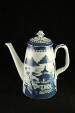 "Mottahedeh Blue Canton Porcelain China Vista Alegre Charleston 9"" Coffee Pot"