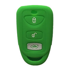 Green 3 BTN Silicone Smart Key Fob Case Cover Soft Skin Key Cover fit for Kia