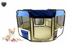 FABRIC FOLDING PET PLAY PEN – Medium – BLUE - M, FINALLY BACK IN STOCK
