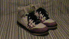 Women's Nike Dunk High - White and Purple - Size 8.5