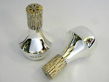 SILVER CHRISTOPHER LAWRENCE SALT & PEPPER SHAKERS LONDON 1982