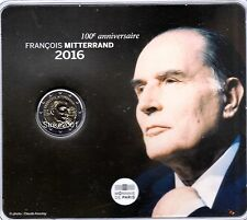 NEW !!! COIN CARD 2 EURO COMMEMORATIVO FRANCIA 2016 François MITTERRAND NEW !!!