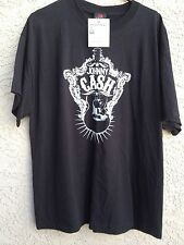 Johnny Cash Guitar T-shirt 1X XL 2006 Zion Rootswear Official Black with tags
