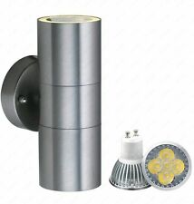 Light LAMP GU10 Stainless Steel Up Down Double Indoor Outdoor Wall IP44