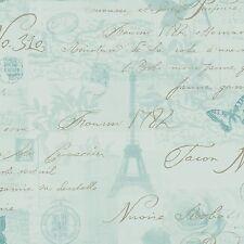 Calligraphie papier peint carte postale Paris (97753) holden décor Duck Egg Chambre