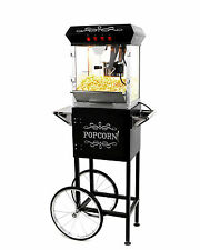 Paramount 6oz Popcorn Maker Machine & Cart - New Upgraded 6 oz Popper [Black]