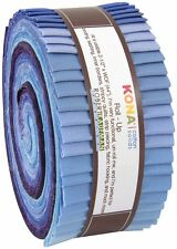 """Kaufman KONA COTTON BLUEBERRY THICKET Roll Up 2.5"""" Strips Jelly Roll"""