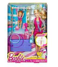Barbie Gymnastic Coach Dolls & Playset New ! DKJ21