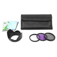 52mm UV+CPL+FLD Filter Kit Polarizer & Fluorescent for Nikon Canon Camera