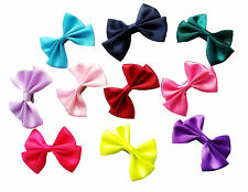 50pcs Butterfly Cute Ribbon Baby Girls Pet Dog Cat Hair Bows Clips Accessories