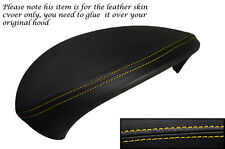 YELLOW STITCH SPEEDO GAUGE HOOD LEATHER SKIN COVER FITS BMW 1 SERIES E81 E82 E87