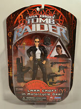 "2001 Motorcycle Gear Lara Croft 6"" Playmates Movie Action Figure Tomb Raider"