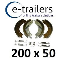 "BARGAIN - 200x50 KNOTT TYPE BRAKE SHOES FOR 8"" DRUM ON IFOR WILLIAMS & MORE"