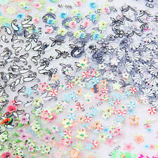50pcs Sheets 3D Design Nail Art Sticker Tips Decal Flower Manicure Stickers FD