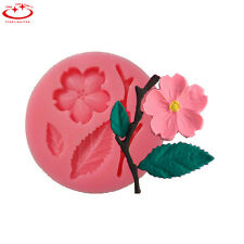 Flower Branch Leaf Silicone Mould Fondant Cake Decorating Chocolate Baking Mold