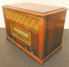 vintage Mid-Century Modern* EMERSON 577 RADIO -Tested Working / WOODIE Tabletop