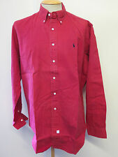 Ralph Lauren POLO men's Red Long Sleeve Casual Shirt Loose Fit Size L 42-46