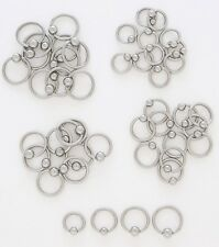 "1 Piece Captive Bead Ring 14g  1/2""  Lip Ear Nipple Belly  - 4MM Bead"