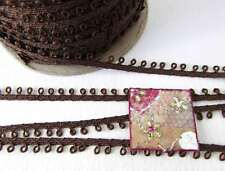 Vintage Loop Trim Brown Picot Edge Sewing Trim Braid Cord Gimp Edging Japan