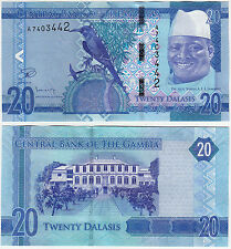 "2015 Gambia 20 Dalasis ""New Re-designed Issue"" ~ Uncirculated {1 Pcs}"