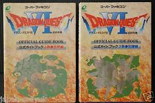 Dragon Quest VI Guide Book 1~2 Complete Set enix OOP