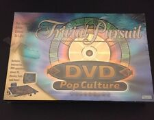 New Trival Pursuit DVD Pop Culture Board Game 2003 Fun Games 2-4 Players