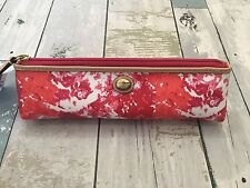 COACH Pink Watercolor Makeup Brush Pencil Case  NWT