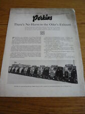 PERKINS OIL ENGINE TRUCK, LORRY COMMERCIAL BROCHURE jm