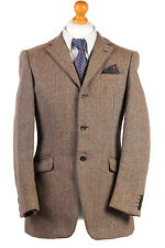 VINTAGE MULTI HERRINGBONE HARRIS TWEED SPORTS HACKING JACKET BLAZER SizeM-HT1850