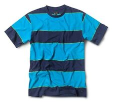 Matix STRINGER CREW Mens Cotton Jersey T-Shirt Large Navy Blue Striped NEW