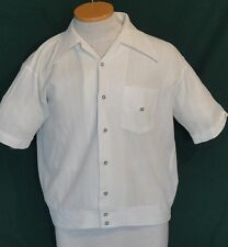Vintage White Sheer Mister Man of California Short Sleeve Shirt M C40