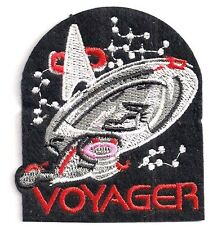 "Star Trek: Voyager  3"" Logo w Ship Patch - FREE S&H  (STPAT-V2)"