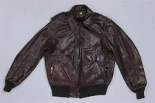 70s Vintage Schott Sportswear 184SM Brown Military Bomber G1 A2 Leather Jacket