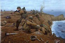 """WW2  - Double carte """"Les Rangers à la Pointe du Hoc"""" le 6 juin 1944"""