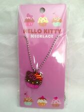 NEW Sanrio Hello Kitty Cupcake Necklace Brown Chocolate
